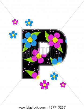 Alphabet Flower Topia P