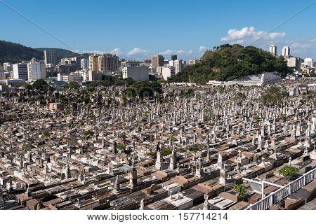 Sait John the Baptist (Sao Joao Batista) Cemetery in Rio de Janeiro, Brazil