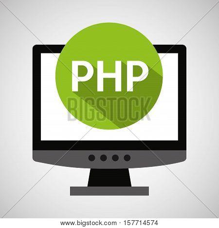 computer web development php vector illustration eps 10