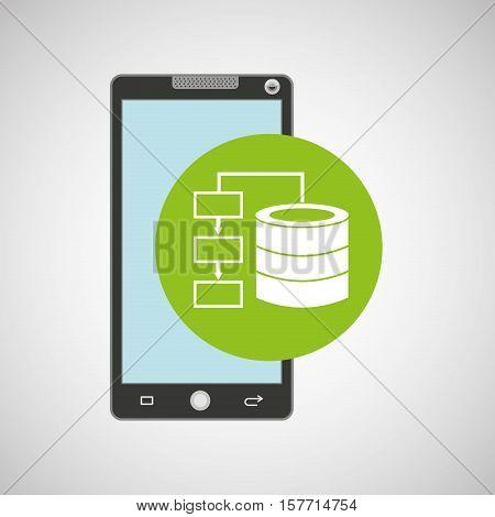 smartphone app development data base vector illustration eps 10