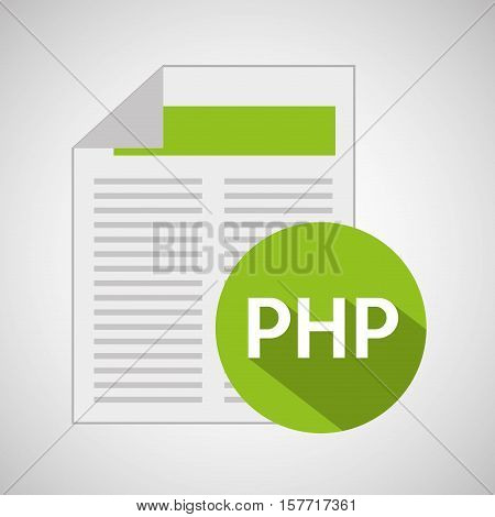 web development document php vector illustration eps 10