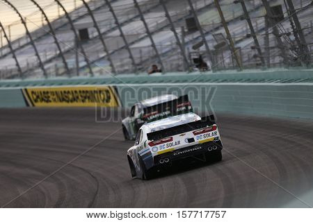 Homestead, FL - Nov 19, 2016: Brennan Poole (48) battles for position during the Ford EcoBoost 300 at the Homestead-Miami Speedway in Homestead, FL.