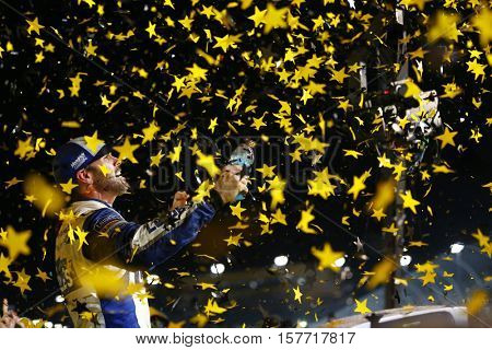 Homestead, FL - Nov 20, 2016: Jimmie Johnson (48) wins the Ford EcoBoost 400 and the 2016 NASCAR Sprint Cup Championship at the Homestead-Miami Speedway in Homestead, FL.