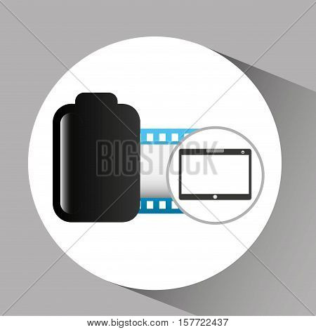 touchpad digital photo roll vector illustration eps 10