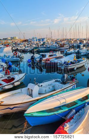Sailboats In The Marina Of The Port Of Livorno