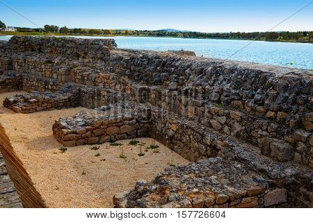 Prosepina roman dam near Merida Badajoz in Spain by the Via de la Plata way