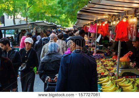 Street Market In Belleville, Paris, France