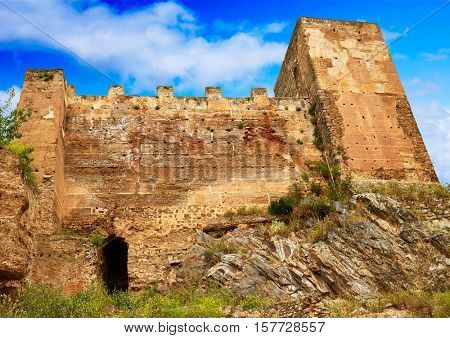 Caceres Baluarte de los Pozos bulwark in Spain at Extremadura