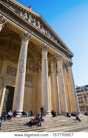 Historic Pantheon In Paris, France