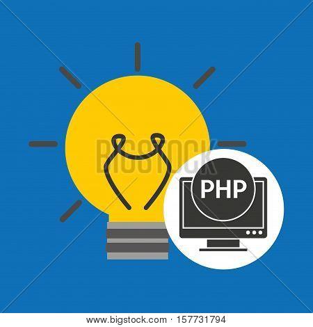 idea code web program php vector illustration eps 10