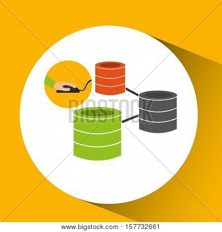 programer software data base design vector illustration eps 10