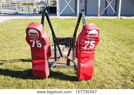 Two person push sled for football training