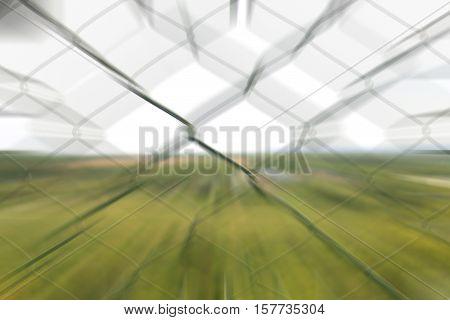 Steel net blurred background .View point background