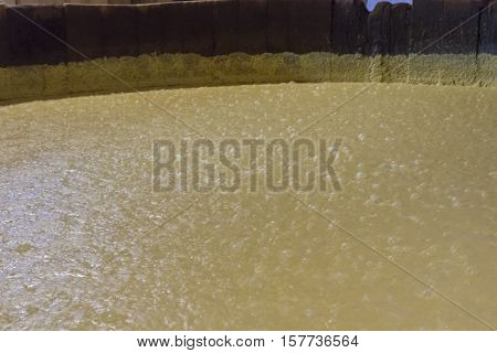 Wooden Vat With Fermenting Corn Mash