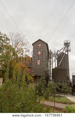 Rustic Wooden Bourbon Distillery