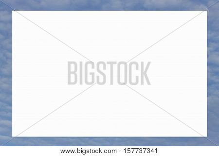 picture frame form blue sky and clouds