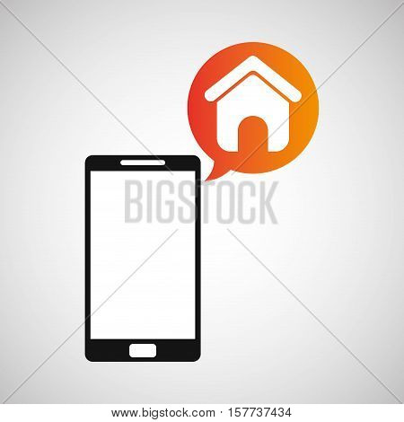 smartphone and homepage application vector illustration eps 10