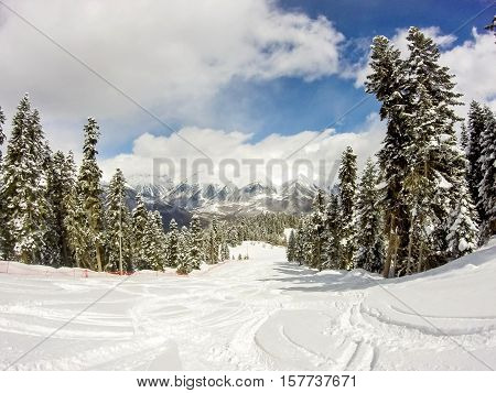 Beautiful Scenery On The Ski Slopes