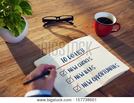 Business Development To Do List Goals Concept