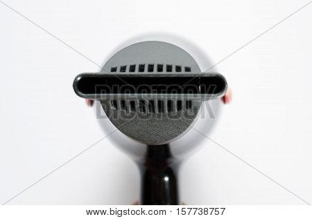 hair dryer plastic electric heat blower on white
