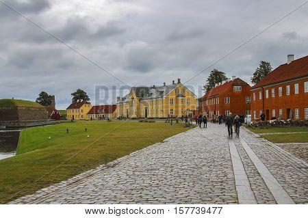 Coloful Houses In  Copenhagen, Denmark
