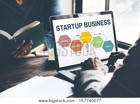 Startup Business Strategy Reserch Concept
