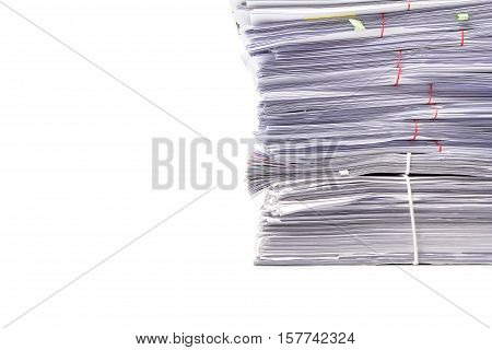 Business Concept, Pile of unfinished documents , Stack of business paper