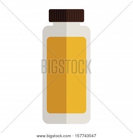 remedy tubular bottle with tap and label vector illustration
