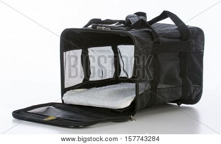 portable airline pet carrier or crate