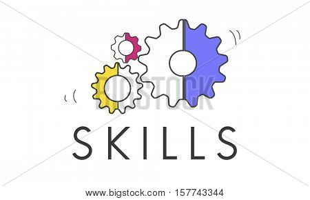 Performance Skills Cog Icon Concept
