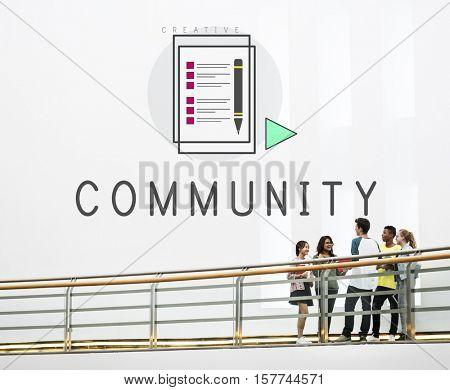 Blog Community Communication Connection Concept