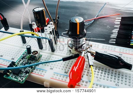 Electronics Construction Development Innovation Experiment Robotics Creation Technology Engineering Concept