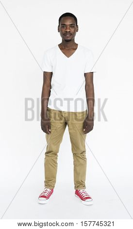 African Descent Posing Casual Cheerful Concept