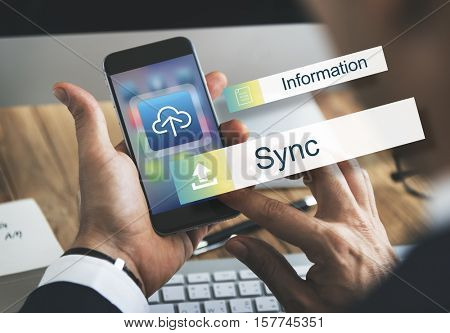 Sync Data Backup Storage Transfer Concept