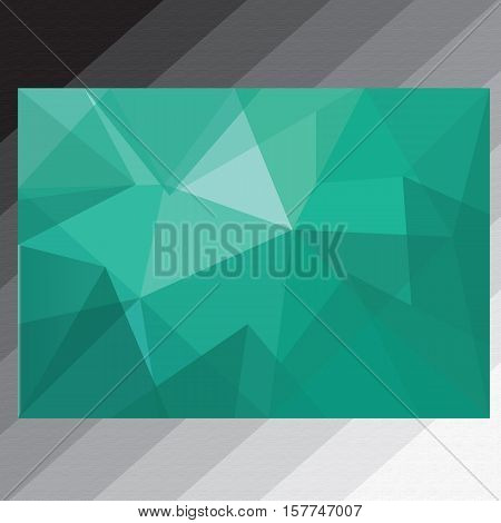 abstract background triangle tosca. This design is suitable for a brochure, banners or poster