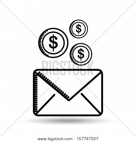 email money sending destination icon vector illustration eps 10