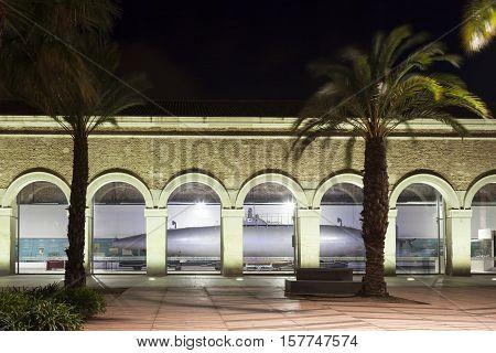 CARTAGENA SPAIN - OCT 22 2016: Peral Submarine in the Naval museum of Cartagena Spain
