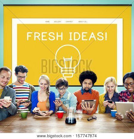 Ideas Creation Design Inspiration Vision Concept