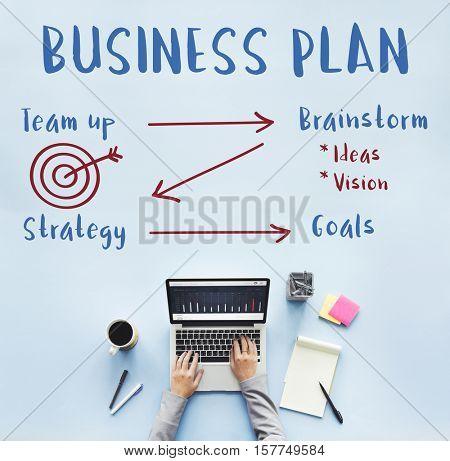 Startup Business Plan Graph Concept
