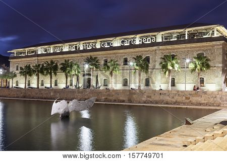CARTAGENA SPAIN - OCT 22 2016: Naval museum at the Polytechnic Institute of Cartagena Spain