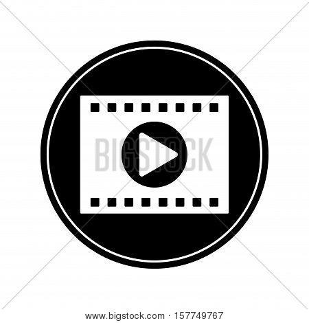 Film strip icon. Cinema movie video film and media theme. Isolated design. Vector illustration