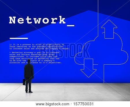 Cloud Computing Network Connection Concept