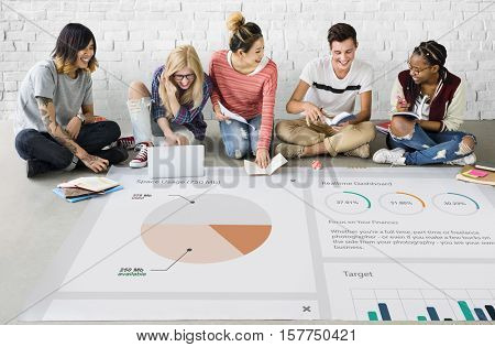 Business Graph Analysis Strategy Concept
