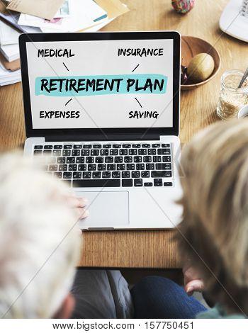 Retirement Plan Diagram Graphic Concept