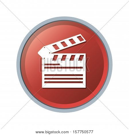 Clapboard icon. Cinema movie video film and media theme. Isolated design. Vector illustration