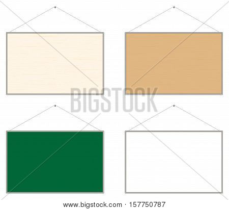 a real Wooden bulletin notice board vector