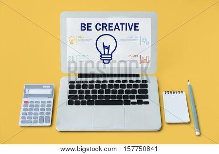 Be Creative Notebook Calculator Concept