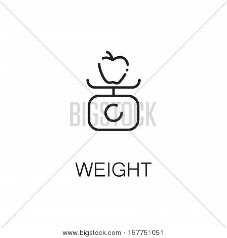 Libra flat icon. Single high quality outline symbol of libra for web design or mobile app. Thin line signs of weight for design logo, visit card, etc. Outline pictogram of libra