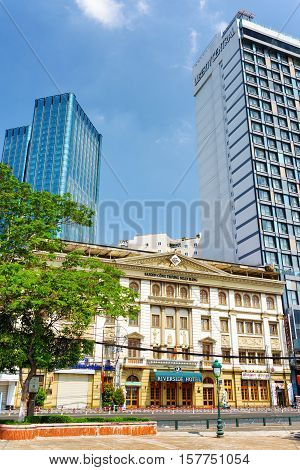 Modern And Old Architecture Of Buildings In Ho Chi Minh, Vietnam