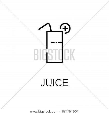 Juice flat icon. Single high quality outline symbol of drink for web design or mobile app. Thin line signs of juice for design logo, visit card, etc. Outline pictogram of juice